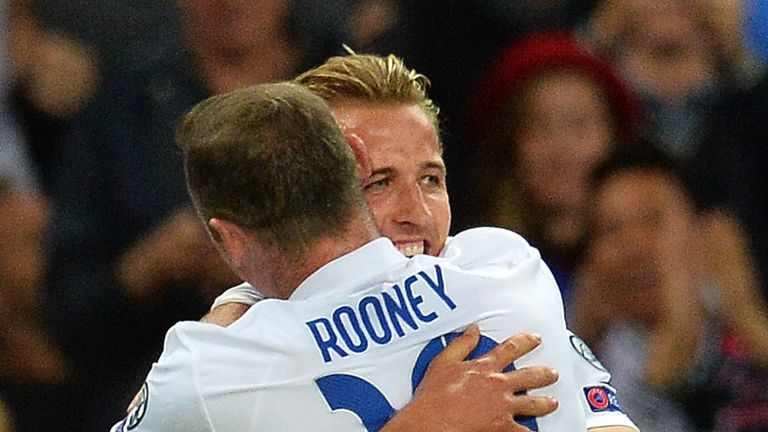 Wayne Rooney and Harry Kane played together for England.
