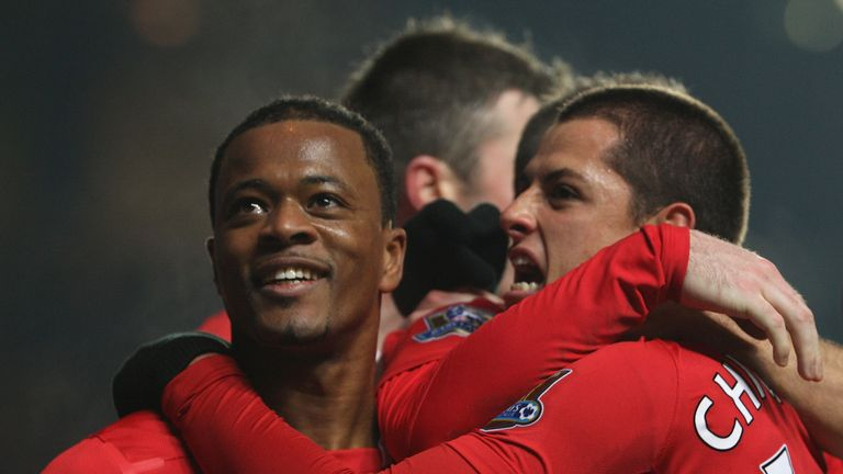Hernandez played with Evra for four years at Old Trafford