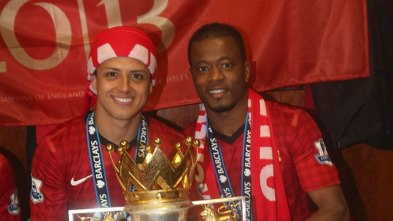 Evra won five Premier League titles with Manchester United