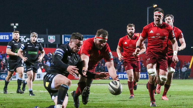Munster are second in Conference A, 10 points clear of the Cheetahs in third