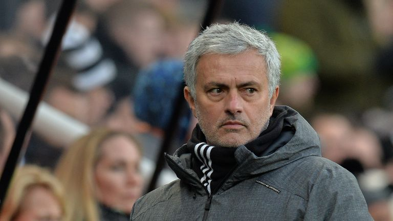 Jose Mourinho saw his Manchester United side beaten at Newcastle