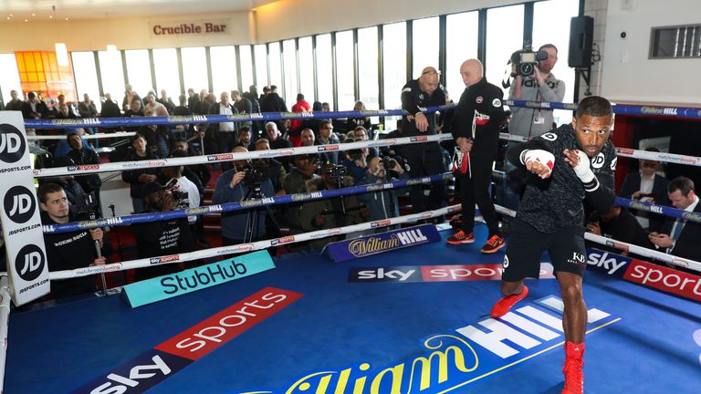 Kell Brook Open Public Workout at Crucible Theatre, Sheffield ahead of his Super-Welterweight fight against Sergey Rabchenko