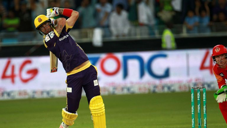 Kevin Peterson in action for Quetta Gladiators in the PSL