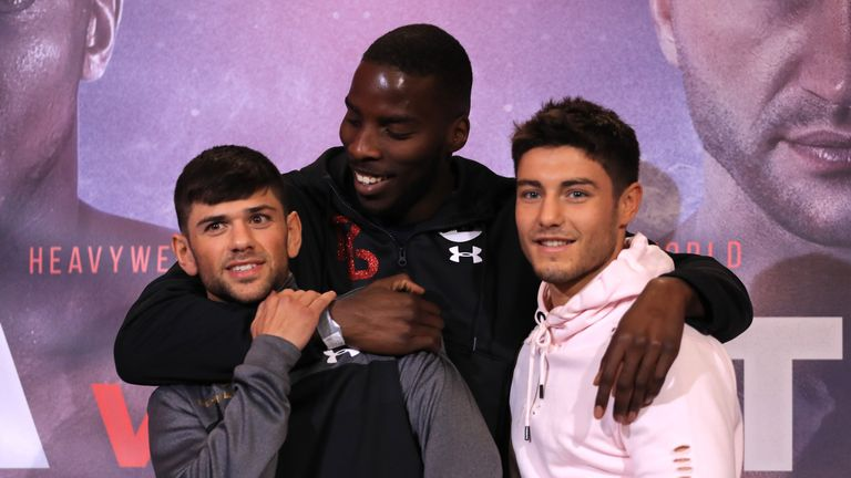 Joe Cordina (L) is looking to join Josh Kelly (R) and Lawrence Okolie and win a Commonwealth title