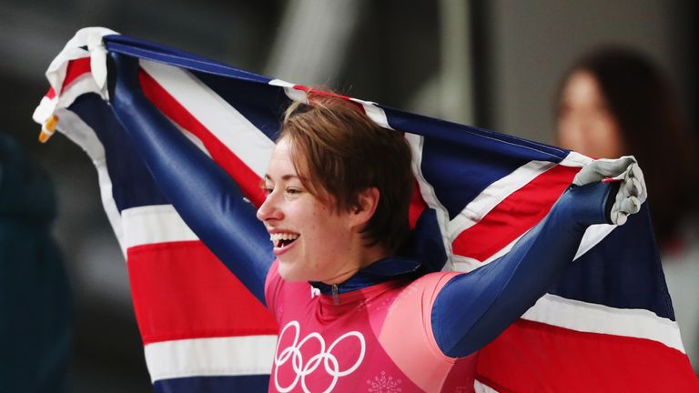 Yarnold had to overcome a chest infection to defend her skeleton title
