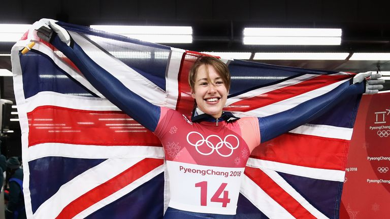 Lizzy Yarnold is Olympic champion for the second time