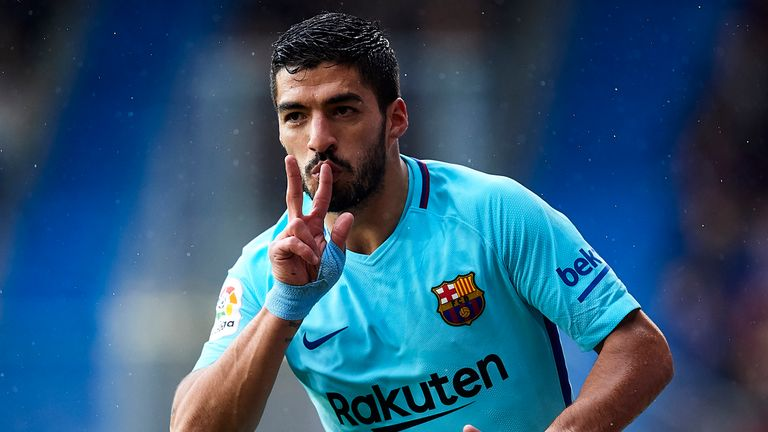 Luis Suarez's goal was his 16th in La Liga this season