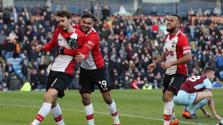 Southampton's Manolo Gabbiadini celebrates scoring his side's equaliser