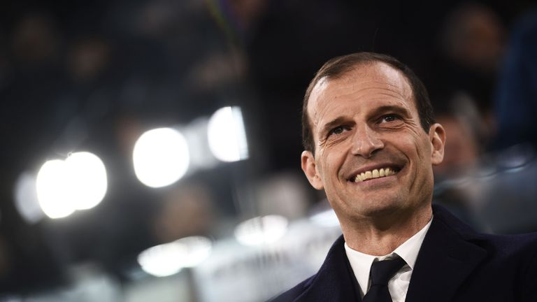Massimiliano Allegri during the UEFA Champions League round of 16 first leg match between Juventus and Tottenham Hotspur