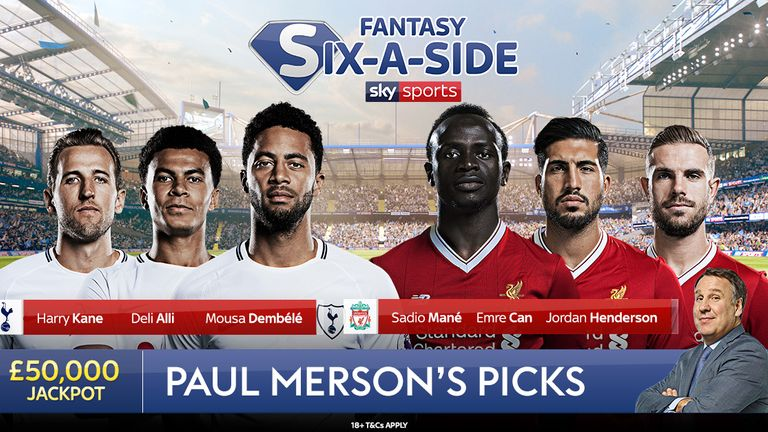 Paul Merson's Fantasy Six-a-Side team