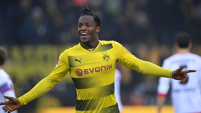 Michy Batshuayi scored for Dortmund against Hamburg