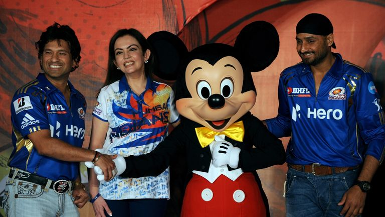 Mickey Mouse met some cricketing legends - while his creator, Walt Disney, watched one score nought!