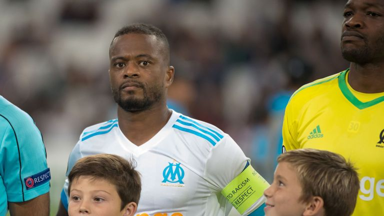 Patrice Evra was sacked by Marseille earlier this season