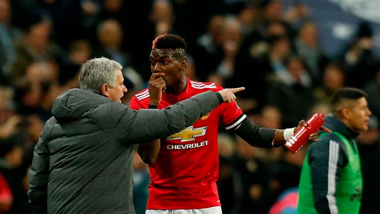 Jose Mourinho and Paul Pogba's relationship is in the spotlight