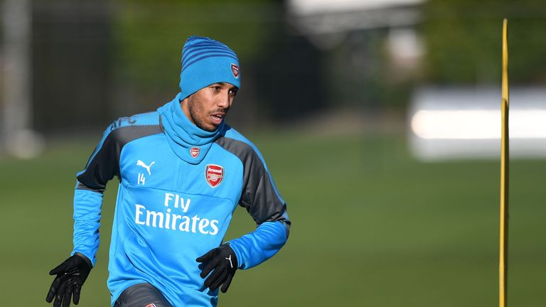 of Arsenal during a training session at Colney on February 1, 2018 in St Albans, England. (Photo by Stuart MacFarlane/Arsenal FC via Getty Images)