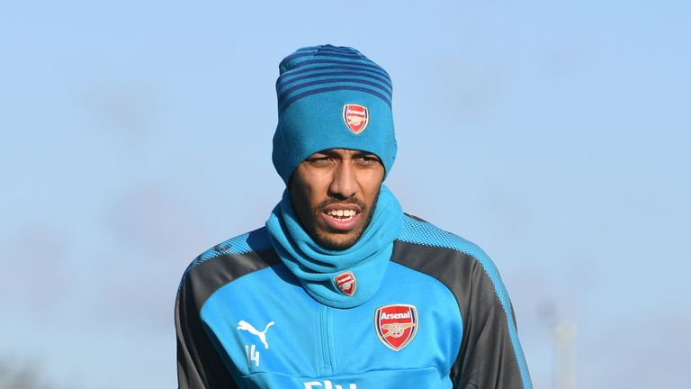 Pierre-Emerick Aubameyang is a doubt for Arsenal