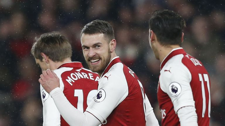 Aaron Ramsey scored a hat-trick for Arsenal
