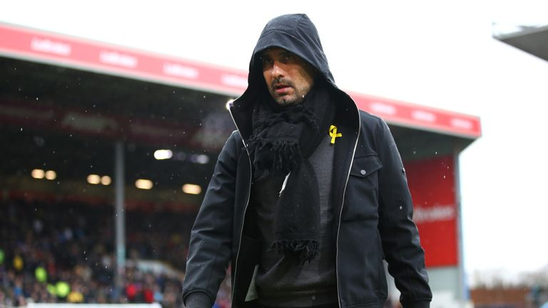Pep Guardiola cited a lack of available players as his reason for naming six substitutes on the bench