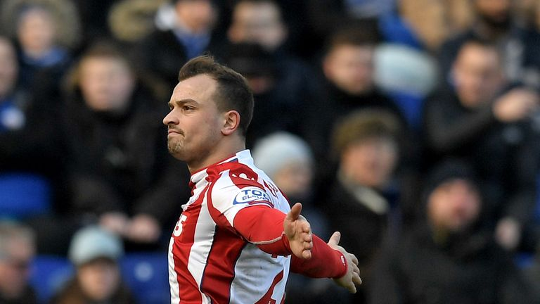 Xherdan Shaqiri has been linked with a move to Liverpool
