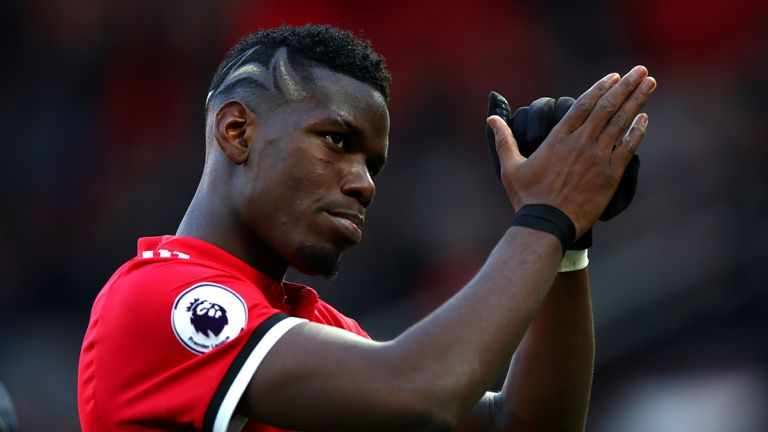 Paul Pogba started in a midfield three along with Nemanja Matic and McTominay