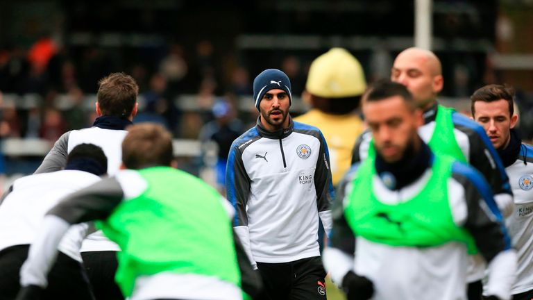 Mahrez had not trained with the club since his proposed transfer to Man City failed