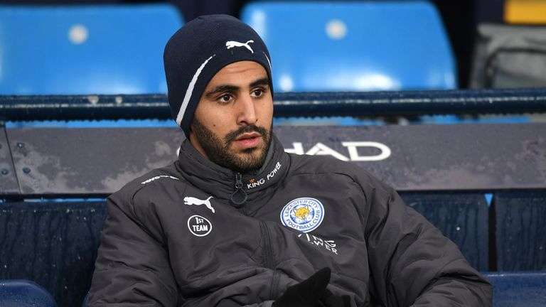 Riyad Mahrez made his return to the first-team squad after missing two league fixtures