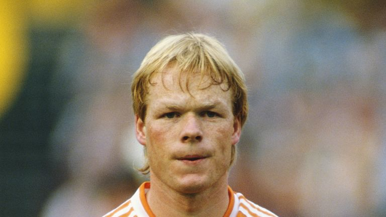 NETHERLANDS - APRIL 29:  Holland player Ronald Koeman looks on before the Euro 88 qualifier between Holland and Hungary in Rotterdam on April 29, 1987    (