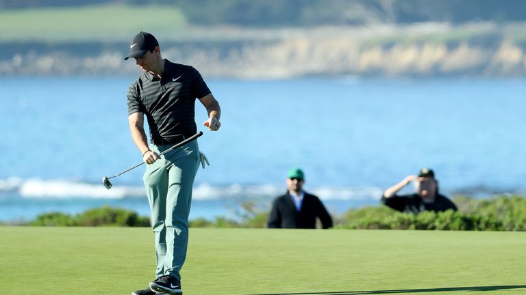 McIlroy admitted he suffered a 'wobble' on the greens at Pebble Beach