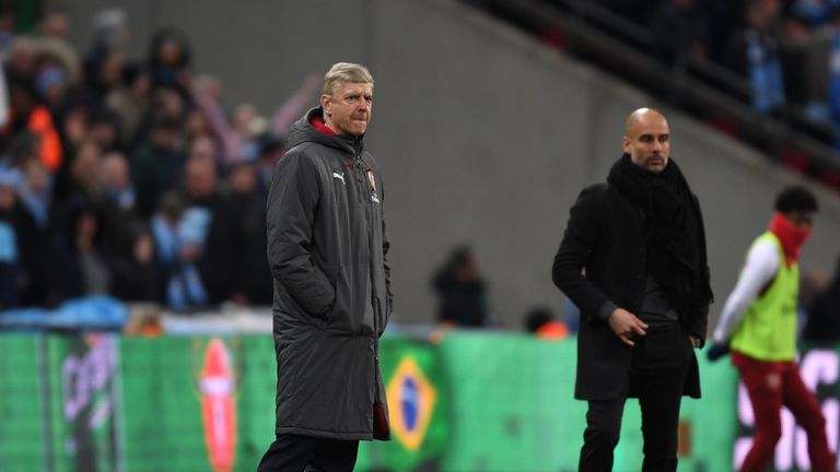 Arsene Wenger during the Carabao Cup final