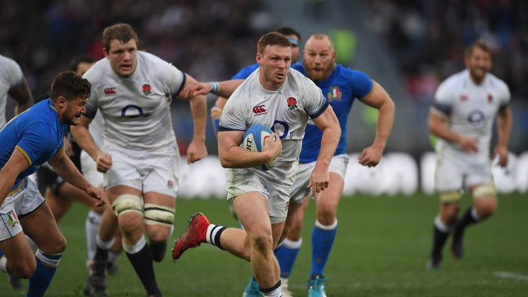 Sam Simmonds could return from a shoulder injury in time for England's final-round fixture against Ireland on St Patrick's Day