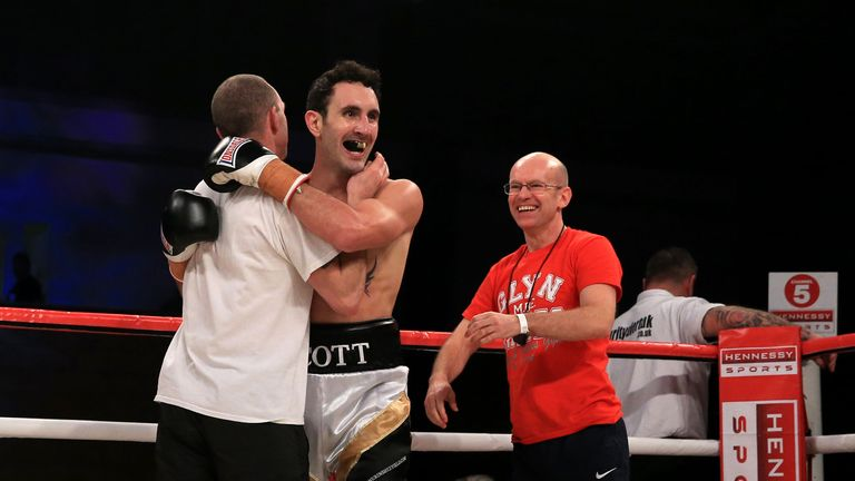 Scott Westgarth pictured in 2014 after his win over Lee Nutland