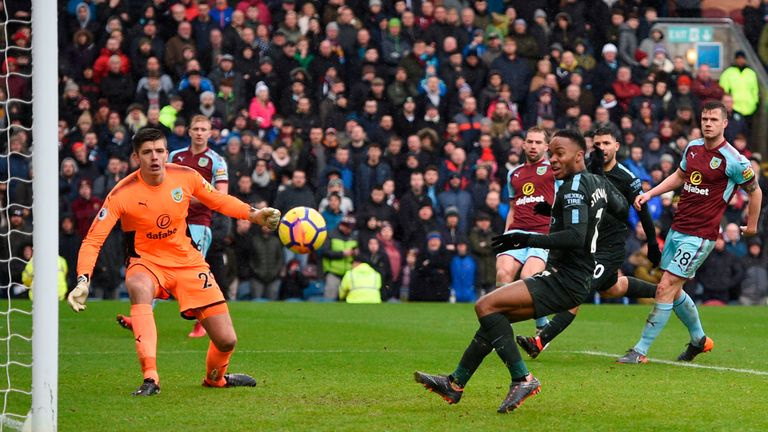 Raheem Sterling missed from inside the six-yard box with Man City 1-0 up