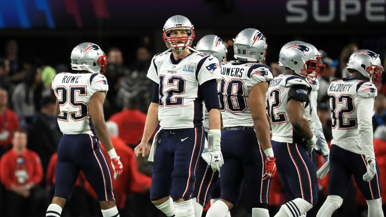 Tom Brady and the New England Patriots were defetaed by the Philadelphia Eagles in last year's Super Bowl