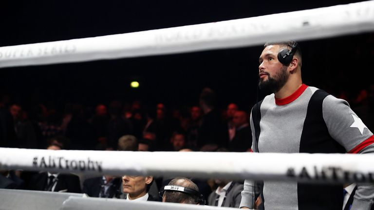 Tony Bellew came face to face with Fury at the Manchester Arena