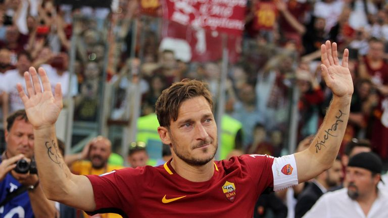 Francesco Totti retired from football in the summer of 2017