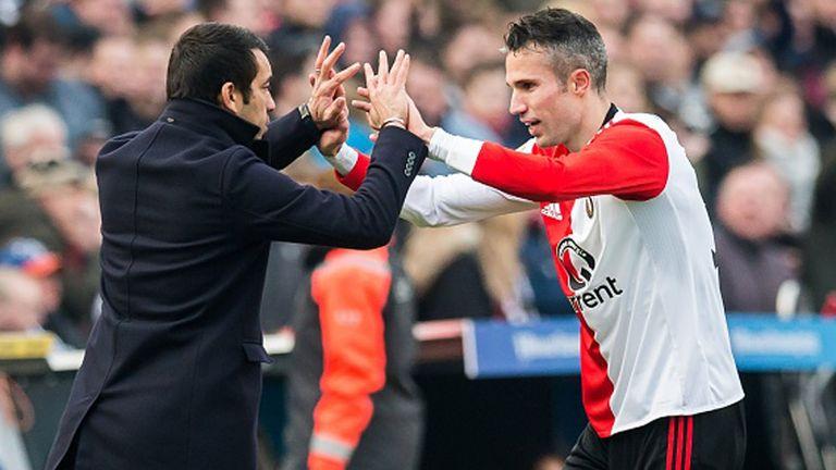 Feyenoord's Robin van Persie celebrates