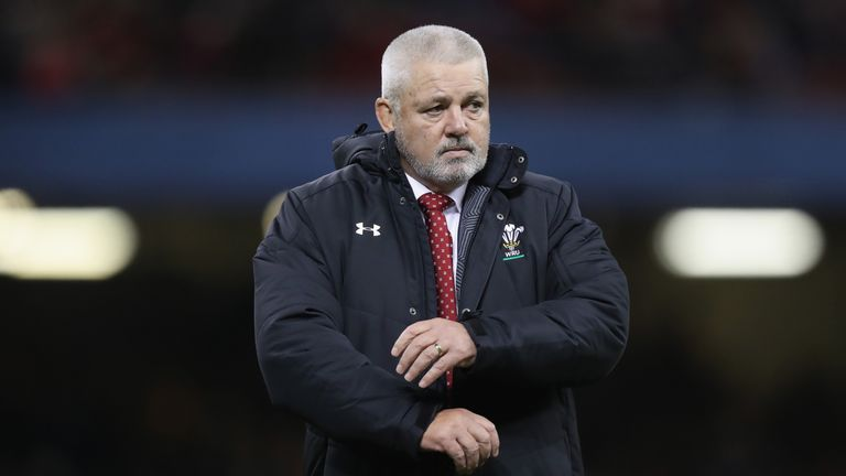 CARDIFF, WALES - FEBRUARY 03:  Warren Gatland, the Wales head coach looks on during the NatWest Six Nations match between Wales and Scotland at the Princip