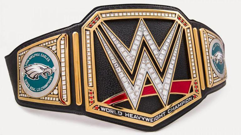 Wwe Gives Philadelphia Eagles Custom Belt To Celebrate