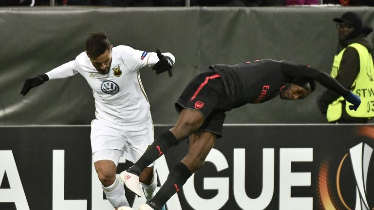 Danny Welbeck was unconvincing up front for Arsenal in Sweden