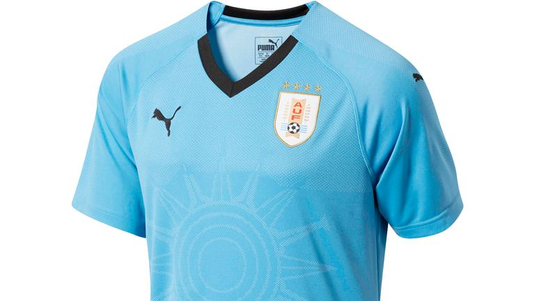Uruguay s home shirt features an  engineered jacquard ... 28ca63080