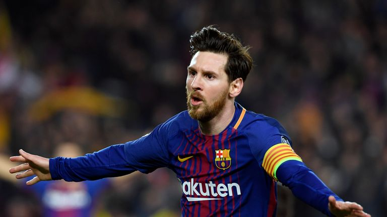 Lionel Messi scored his 100th Champions League goal