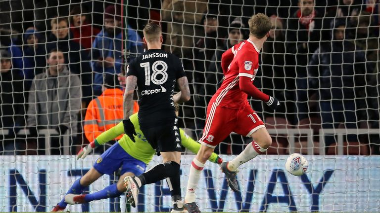 Patrick Bamford opens the scoring for Middlesbrough
