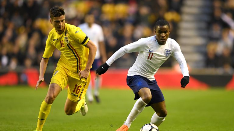 Ademola Lookman was one of nine England U21 players in Satuday's side who featured in last year's U20 World Cup win