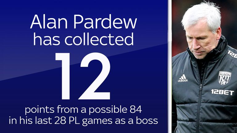 Alan Pardew did not enjoy the best of times at West Brom