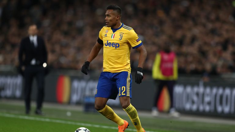 Alex Sandro in action for Juventus