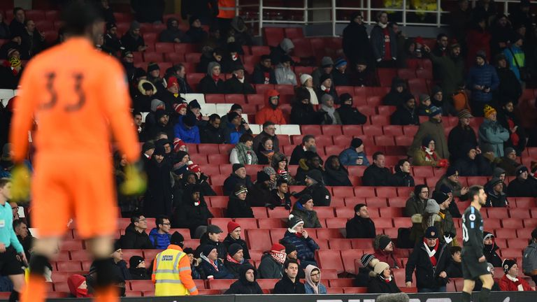 Empty seats have become commonplace at the Emirates Stadium