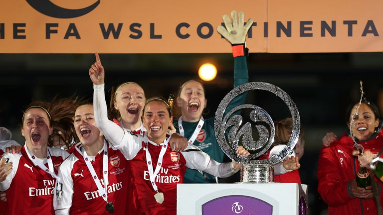 Arsenal Women beat Manchester City to win the WSL Cup
