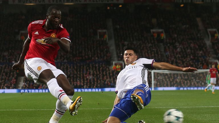 during the UEFA Champions League group A match between Manchester United and FC Basel at Old Trafford on September 12, 2017 in Manchester, United Kingdom.