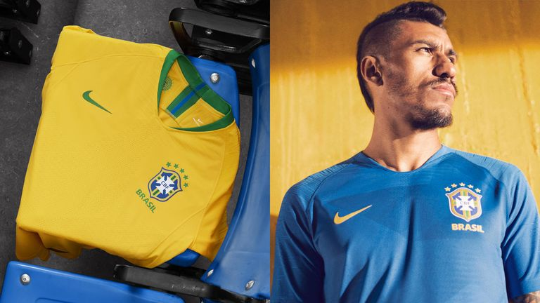 Nike unveil the 2018 Brasil National Team Collection which includes kits, training apparel, pre-match gear and an Anthem Jacket (credit: Nike)