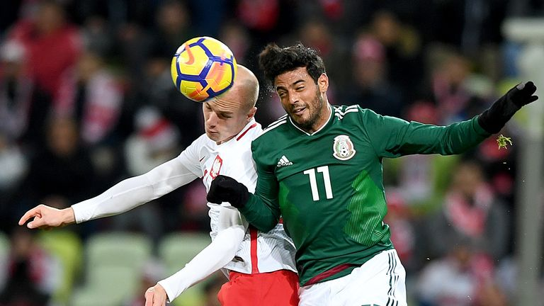 Carlos Vela in action for Mexico in a recent friendly with Poland